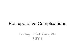 Postoperative Complications