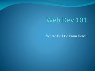 Web  Dev  101