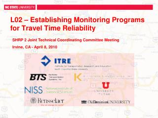 L02  – Establishing Monitoring Programs for Travel Time Reliability