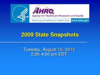 2009 State Snapshots