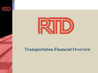 Transportation Financial Overview