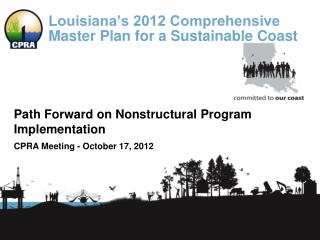 Louisiana's 2012 Comprehensive Master Plan for a Sustainable Coast