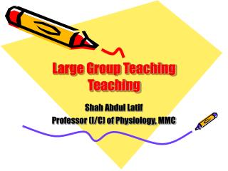Large Group Teaching Teaching