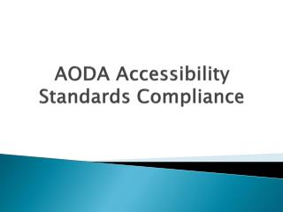 AODA Accessibility Standards Compliance