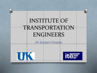 INSTITUTE OF TRANSPORTATION ENGINEERS