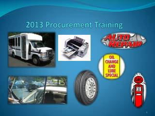 2013 Procurement Training