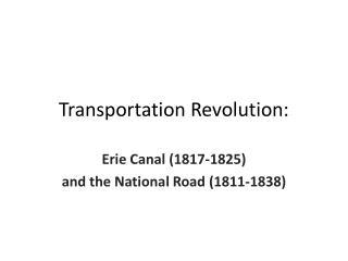 Transportation Revolution: