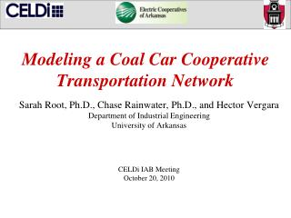 Modeling a Coal Car Cooperative Transportation Network
