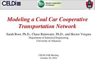 Modeling a Coal Car Cooperative Transportation Network