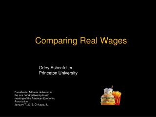 Comparing Real Wages