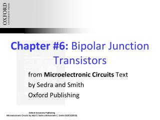 Chapter #6:  Bipolar Junction Transistors