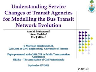 Understanding Service Changes of Transit Agencies for Modelling the Bus Transit Network Evolution