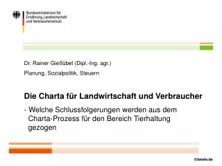 Dr. Rainer Gießübel (Dipl.-Ing. agr.) Planung, Sozialpolitik, Steuern