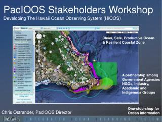 PacIOOS Stakeholders  Workshop Developing The Hawaii  Ocean Observing  System (HiOOS)