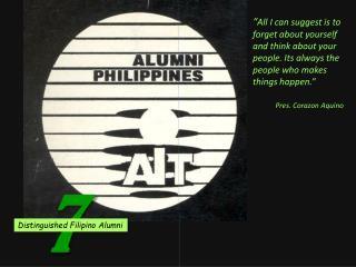 Distinguished Filipino Alumni