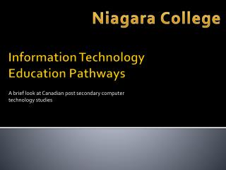 Information Technology Education Pathways