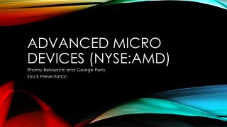 Advanced Micro Devices ( NYSE:AMD )