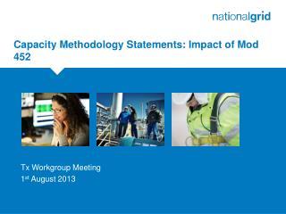 Capacity Methodology Statements: Impact of Mod 452