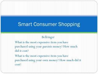 Smart Consumer Shopping