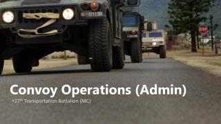 Convoy Operations (Admin)