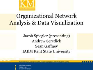 Organizational Network Analysis & Data  Visualization