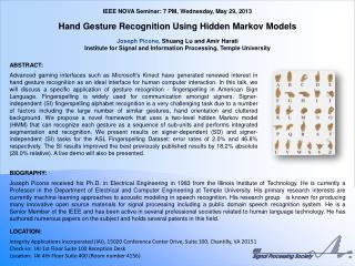 IEEE NOVA Seminar: 7 PM, Wednesday, May 29, 2013