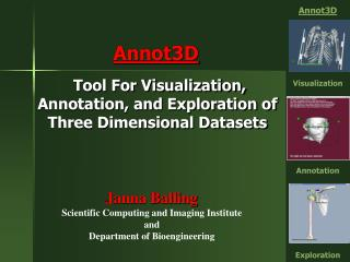 Tool For Visualization, Annotation, and Exploration of          Three Dimensional Datasets