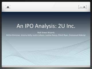 An IPO Analysis: 2U Inc.