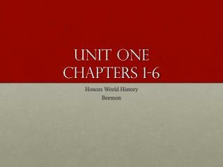 Unit One Chapters 1-6