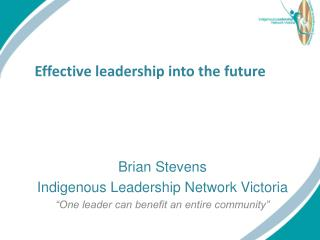 Effective leadership into the  f uture