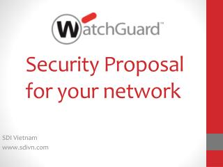 Security Proposal for your network