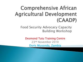 Comprehensive African Agricultural Development CAADP