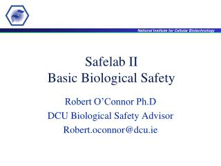 Safelab II Basic Biological Safety
