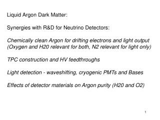 Liquid Argon Dark Matter: Synergies with R&D for Neutrino Detectors: