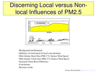 Discerning Local versus Non-local Influences of PM2.5