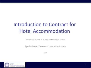 Introduction to Contract for Hotel Accommodation