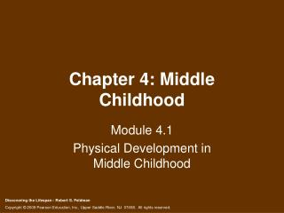 Chapter 4: Middle Childhood