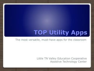 TOP Utility Apps