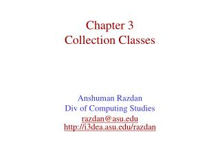 Chapter 3 Collection Classes