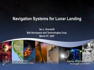 Navigation Systems for Lunar Landing