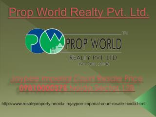 Jaypee Imperial Resale Price 09810000375 Noida Sector 128