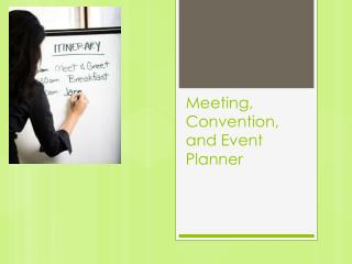 Meeting, Convention, and Event Planner