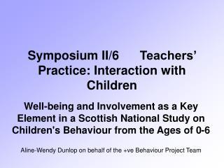 Symposium II