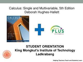 Calculus: Single and Multivariable, 5th Edition Deborah Hughes-Hallett