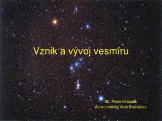 Vznik a vývoj vesmíru