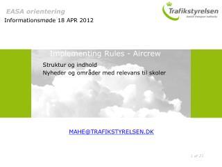 EASA orientering