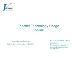 Teacher Technology Usage  Topline