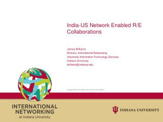 India-US Network Enabled R/E Collaborations