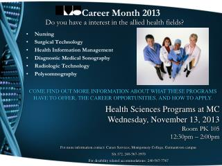 Nursing Surgical Technology Health Information Management Diagnostic Medical Sonography