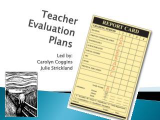 Teacher Evaluation Plans